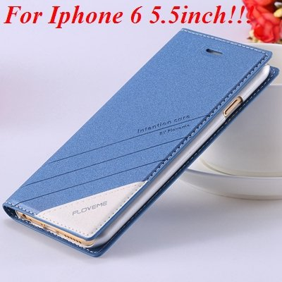 I6/6 Plus Magnetic Flip Wallet Case Original Brand Pu Leather Cove 32229188925-8-blue for plus