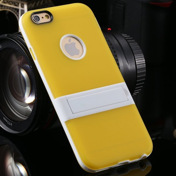 Amazing Triangle Bracket Case For Iphone 6 4.7'' Back Phone Shell  2046192931-6-yellow