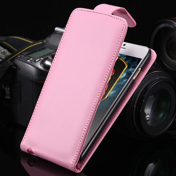 I6 Plus Flip Vertical Case Premium Pu Leather Cover For Iphone 6 P 2026302416-5-pink