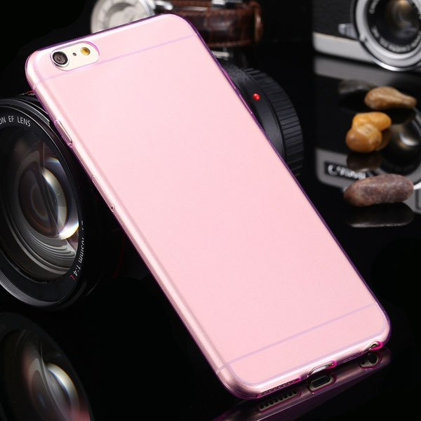 I6 Plus Tpu Clear Case Ultra Thin Flexible Soft Cover For Iphone 6 32237203163-6-Thin pink