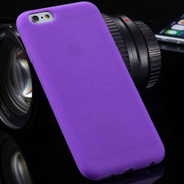 Ultra Thin Soft Silicone Cover For Iphone 6 4.7Inch Back Phone Hou 2053591358-10-purple