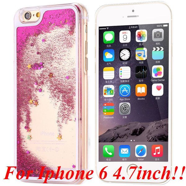 I6/6+ Glitter Quicksand Clear Case For Iphone 6 4.7Inch/5.5Inch Pl 32277057350-1-rose for iphone 6