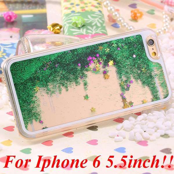 I6/6+ Glitter Quicksand Clear Case For Iphone 6 4.7Inch/5.5Inch Pl 32277057350-8-green for plus