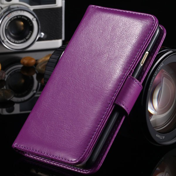 I6 Pu Leather Case Photo Frame Stand Cover For Iphone 6 4.7Inch Fu 1990192816-8-purple