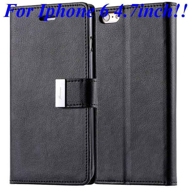 I6/6 Plus Luxury Original Brand Case Pu Leather Cover With Card Ba 32275986058-1-black for iphone 6