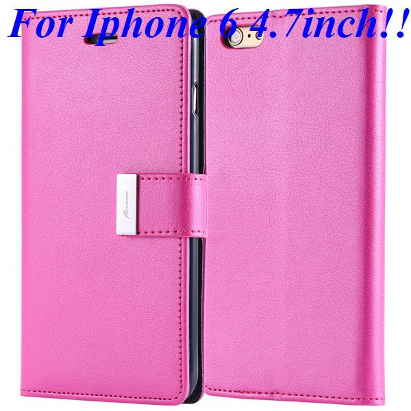 I6/6 Plus Luxury Original Brand Case Pu Leather Cover With Card Ba 32275986058-4-rose for iphone 6