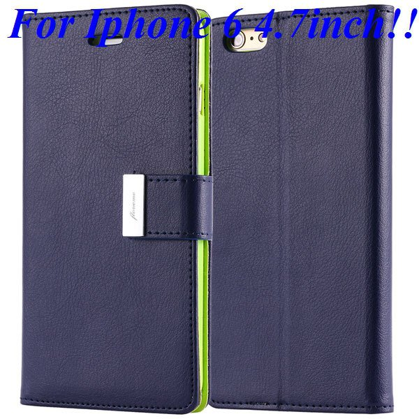 I6/6 Plus Luxury Original Brand Case Pu Leather Cover With Card Ba 32275986058-6-blue for iphone 6