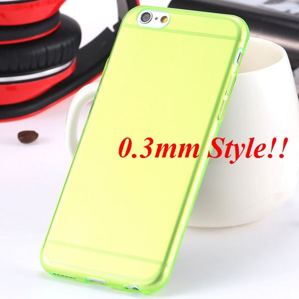 Latest Flexible Soft High Transparent Case For Iphone 6 4.7'' Clea 2042995313-4-Thin green