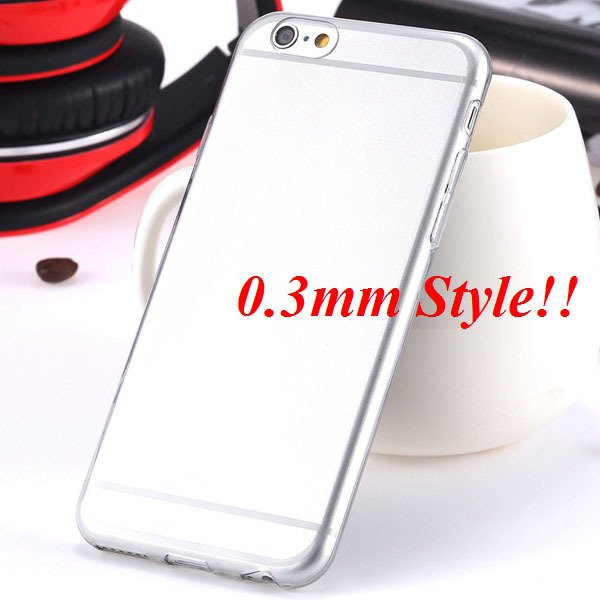Latest Flexible Soft High Transparent Case For Iphone 6 4.7'' Clea 2042995313-9-Thin gray