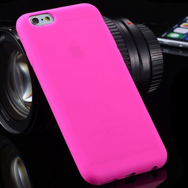 Super Soft Silicone Case For Iphone 6 4.7Inch Back Phone Cover Wit 2053581939-4-hot pink