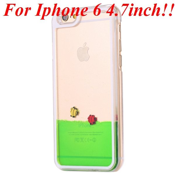 I6/6 Plus Dynamic Flowing Liquid Fish Clear Case For Iphone 6 4.7I 32277567848-5-green for iphone 6