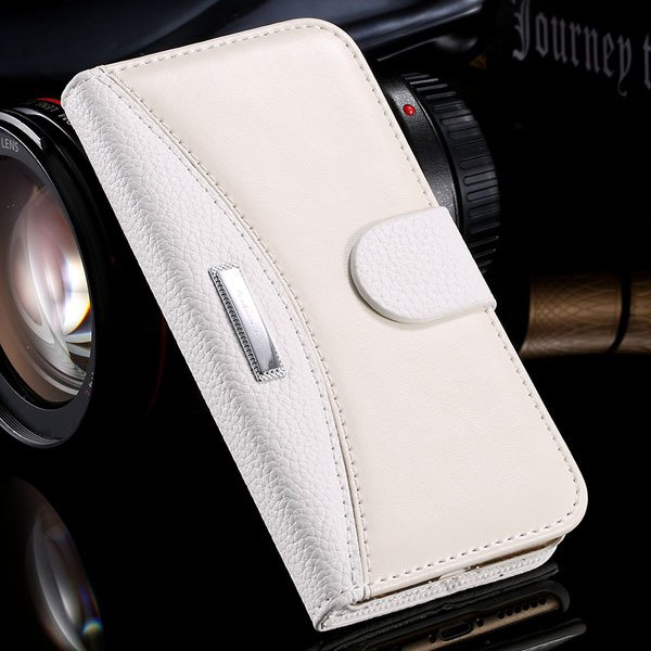 Business Flip Leather Case For Iphone 6 4.7Inch Full Cover Stand F 32250230341-2-white