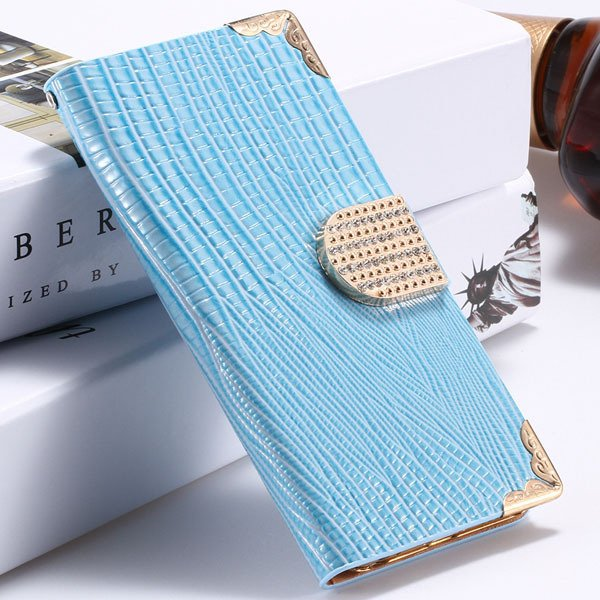 I6 Plus Bling Diamond Case Flip Wallet Cover For Iphone 6 Plus 5.5 32231890571-4-blue
