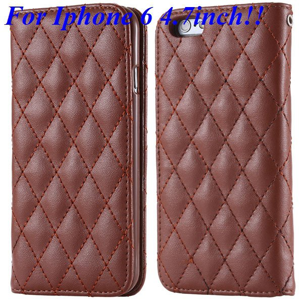 I6 Full Case Magnetic Protect Phone Case For Iphone 6 4.7Inch Flip 32261161199-5-brown