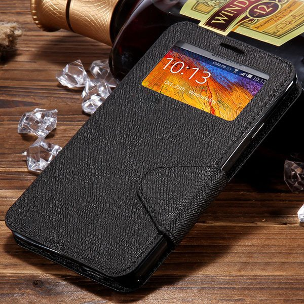 For Note 3 Window Case Full Protect Cover For Samsung Galaxy Note  1961130524-1-black