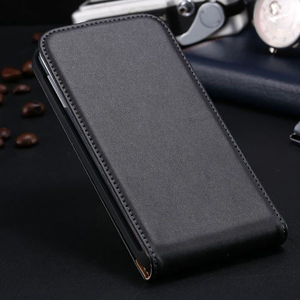 S5 Flip Real Leather Case For Samsung Galaxy S5 I9600 Full Protect 1790067218-1-black