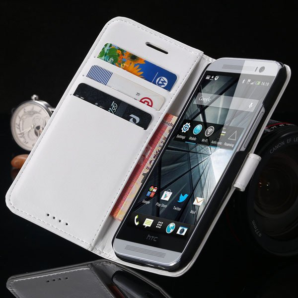 M8 Pu Leather Case For Htc One M8 Korea Flip Wallet Cover With Sta 1877644056-2-white