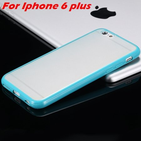 New Arrival Slim Colorful Tpu Clear Case For Iphone 6 4.7'' Phone  2018245815-17-Green For I6 Plus
