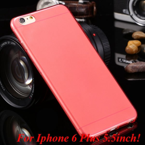 I6/6 Plus Clear Case 0.3Mm Ultra Thin Flexible Soft Cover For Ipho 2031417168-19-I6 Plus red