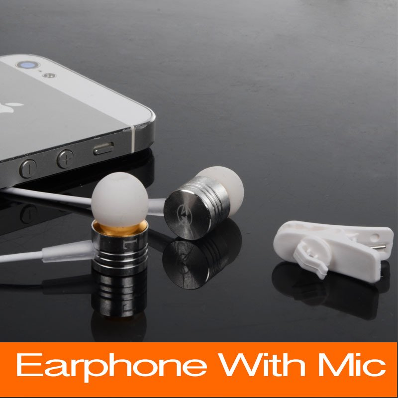 New 2015 Brand 3.5Mm Jack In Ear Headphone Earphone Mic For Xiaomi 1756330045-1-Silver