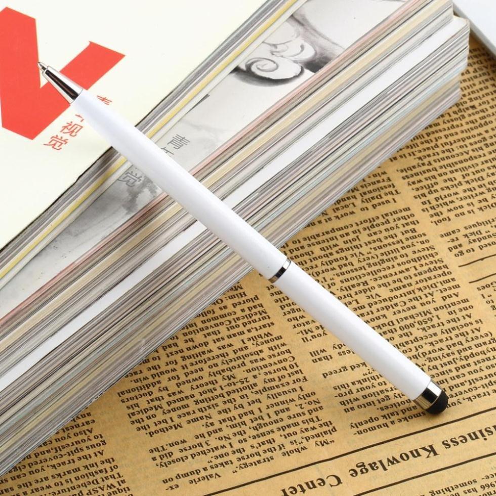 1Pcs Capacitive Screen Touch Pen 2In1 Stylus Ballpoint Pen White F 1668980366-1-