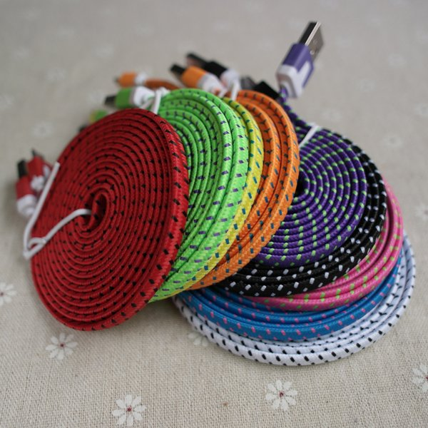 10Ft/3M 30Pin Noodle Flat Braided Woven Wire For Iphone4 4S Usb Da 2055358873-1-