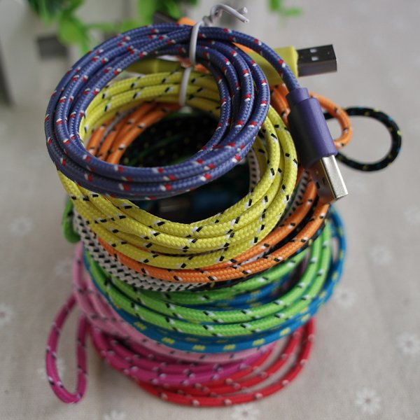 Colorful 3M/10Ft Braided Nylon Woven Wire For Apple Iphone 4 4S Wi 2055352835-1-