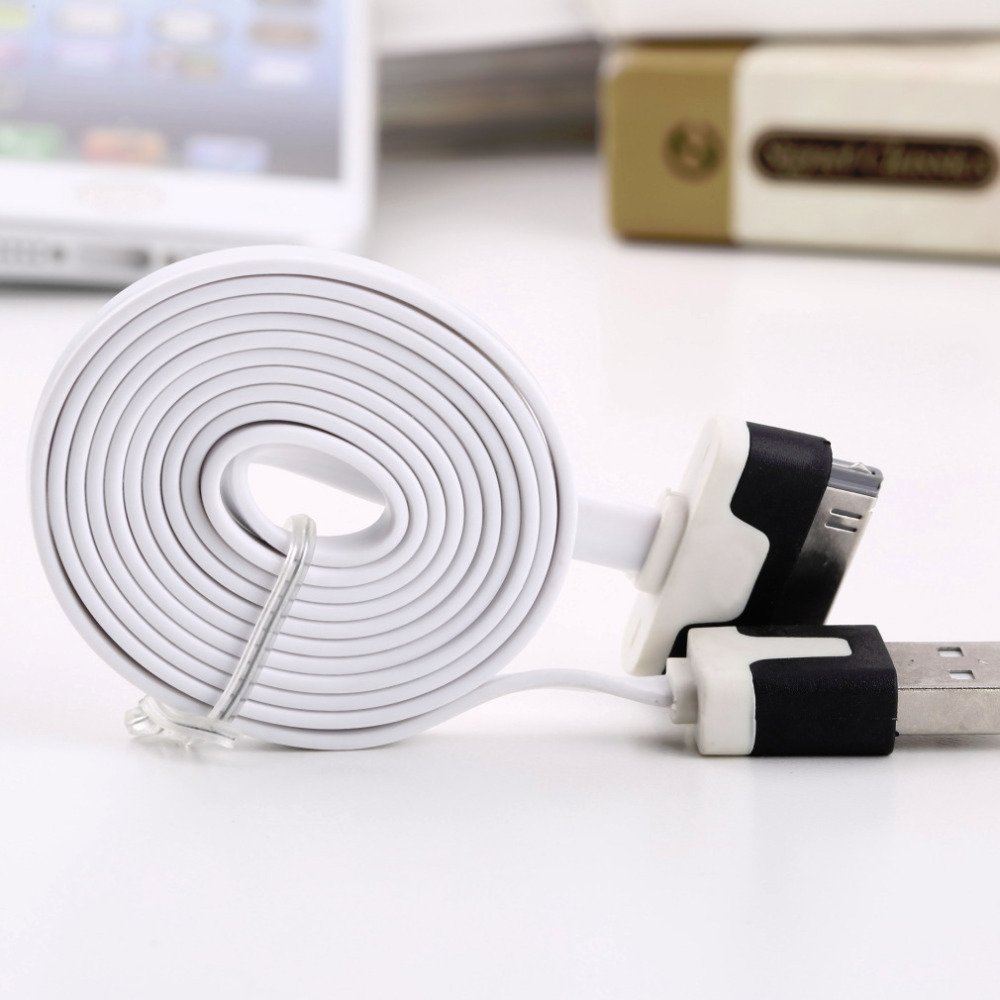 Flat Usb Charging Data Cable For Apple For Ipod For Iphone 4 For 4 1604886339-1-