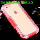 Waterproof Case For Iphone 6 Plus 5.5 Clear Front & Back Phone Cov 32276678396-10-red