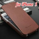 Vintage Genuine Leather Flip Phone Bag For Iphone 5 5S 5G New 2015 657707157-3-style 1 iP5 brown