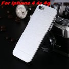 Luxury Aluminium Brush Metal Case For Iphone 4 4S /5 5S 5G Phone C 32268542201-10-Sliver For 4s