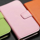 Genuine Leather Wallet Stand Case For Samsung Galaxy S4 I9500 Phon 852772840-4-style 1 pink