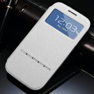Window View Smart Case For Samsung Galaxy S3 I9300 I9305 Magnetic  32311696779-2-White