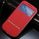 Window View Smart Case For Samsung Galaxy S3 I9300 I9305 Magnetic  32311696779-5-Red