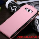 High Quality Luxury Flip Cover Genuine Leather Case For Samsung Ga 1776160173-3-pink for S3