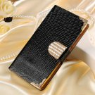 Luxury Bling Wallet Flip Leather Case For Motorola Moto X 2014 Xt1 32303405177-1-Black