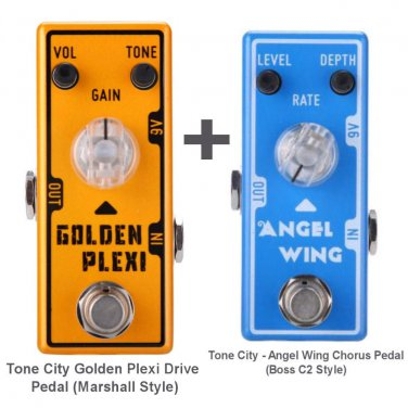 Tone City Golden Plexi Drive T7 + T11 Angel Wing Chorus Effect Pedals Micro as Mooer Free Shipping