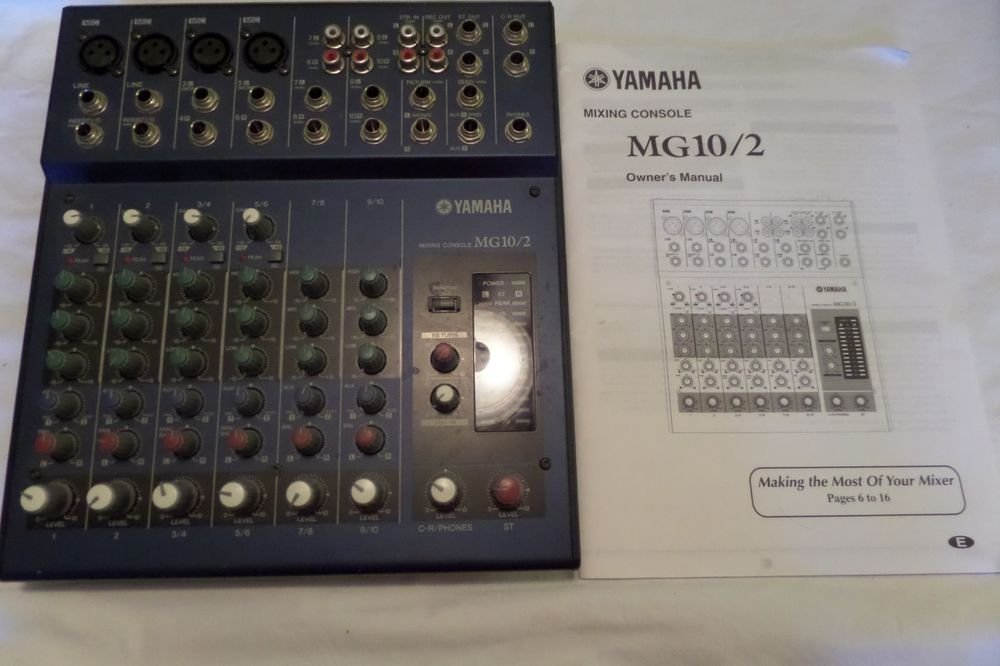 Yamaha Mixing Console Model MG 10/2