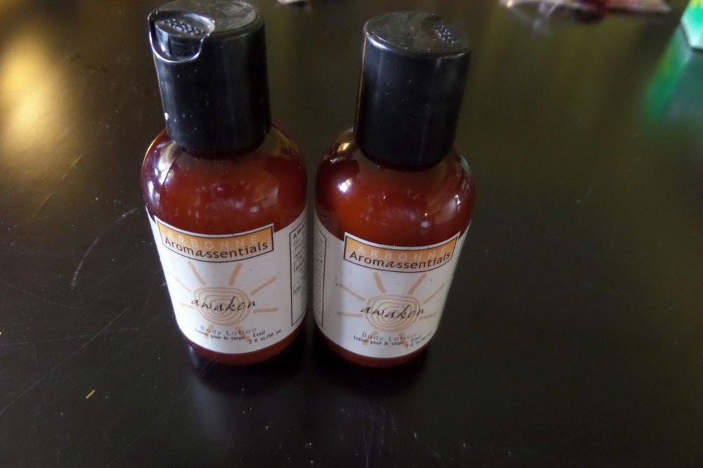 2 bottle 2 oz. Arbonne Aromassentials Awaken Body Lotion - NEW