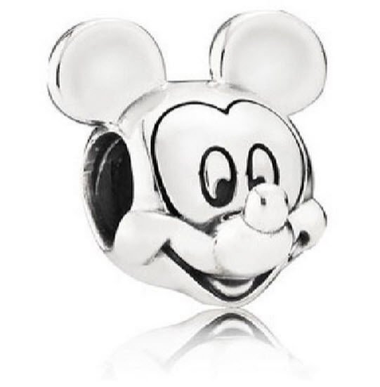 Authentic PANDORA DISNEY Sterling Silver Mickey Mouse Portrait Charm 791586