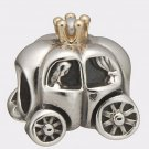 Authentic Pandora Silver &14K Gold Royal Carriage with Pearl Bead 790598P