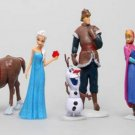 6 Pcs Frozen Elsa Olaf Sven Anna Hans Action Figure Play set Cake Topper