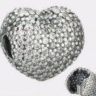 Authentic Pandora Sterling Silver Heart Pave CZ Clip 791427CZ