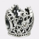 New Authentic Pandora 925 Sterling Silver Charm Disney Princess Crown 791580CZ