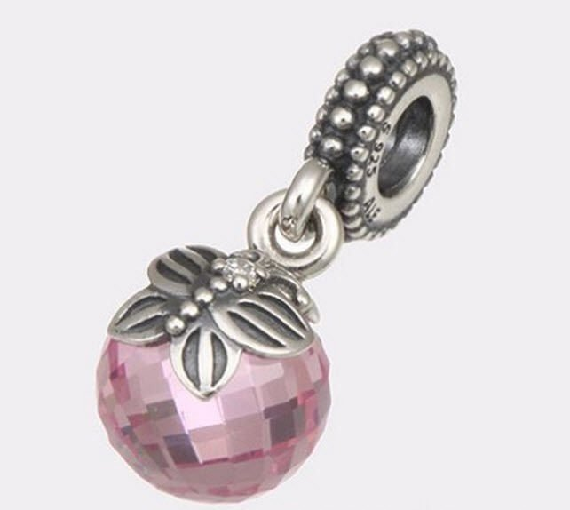 Authentic Pandora Sterling Silver Pink Morning Butterfly Bead 791258PCZ