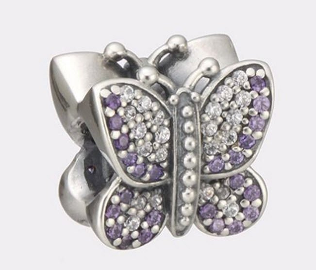 Authentic Pandora Sterling Silver Sparkling Butterfly Bead 791257ACZ