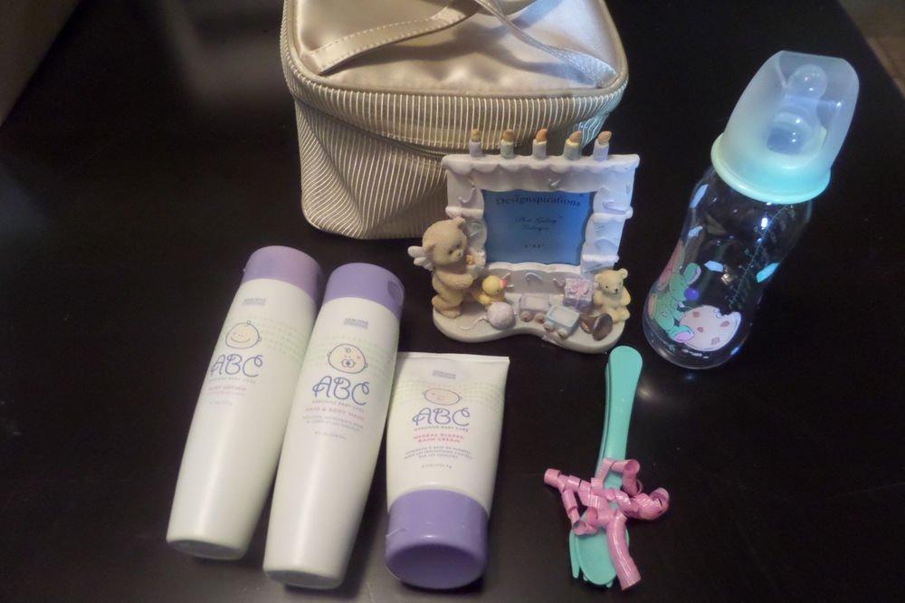 Arbonne ABC Baby Care Gift Set - Body Wash, Diaper Cream, Lotion, Frame, Bottle