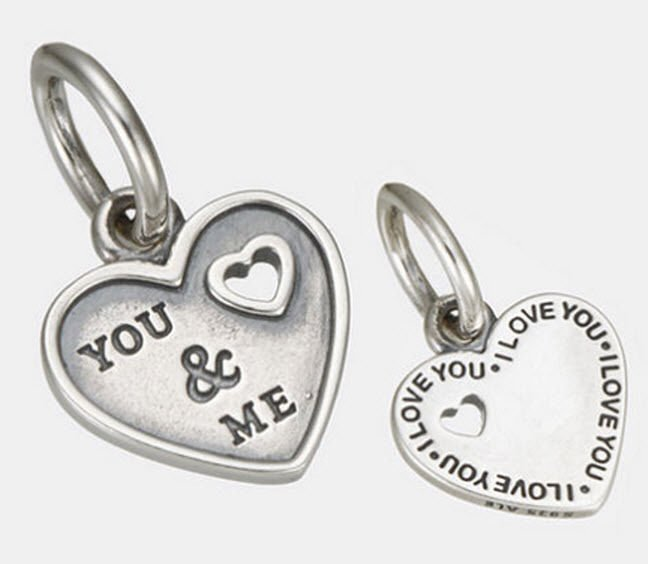 Authentic Pandora Sterling Silver Together Forever Hanging Charm 791430