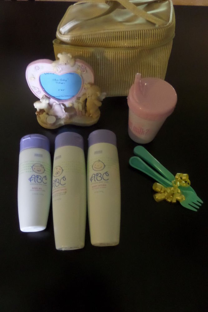 Arbonne ABC Baby Care Gift Set - Body Wash, Body Oil, Lotion, Frame