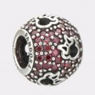 Authentic Pandora Disney Abstract Pave Red CZ & Minnie Silhouttes Bead 791584CZR